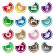 Stickers and social media icons — Stock Vector #14118077