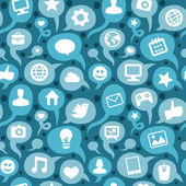 Padrão sem emenda de vetor com ícones de mídias sociais — Vetorial Stock