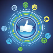 Vektor sociala medier koncept — Stockvektor