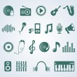 Royalty-Free Stock Vector Image: Vector set of music icons
