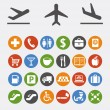 Icons and pointers for navigation in airport — Stock Vector #14248783
