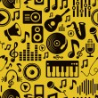 Vector music seamless pattern with icons — Stock Vector #14248799