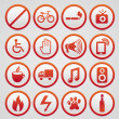 Set of vector warning signs — Stock Vector