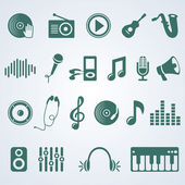 Vector set of music icons — Stock Vector