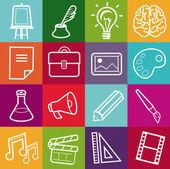 Vektorové kreativní ikony — Stock vektor