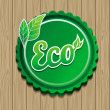 Vector eco label — Stock Vector