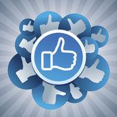 矢量社交媒体概念 — 图库矢量图片