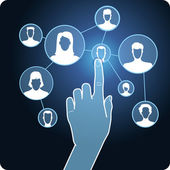 Vector social media network — Stock Vector