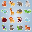 Royalty-Free Stock Vector Image: Vector collection with 16 cartoon animals