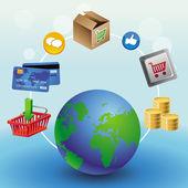 Vector internet shopping concept — Stock Vector