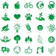 Vector ecology signs and icons — Stock Vector #15402123