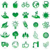 Vector ecología signos e iconos — Vector de stock