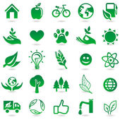 Vector ecology signs and icons — Vector de stock