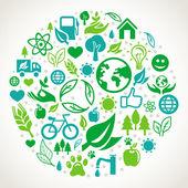 Vektor ekologi koncept — Stockvektor