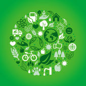 Concepto de ecología verde vector — Vector de stock