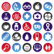 Vector medical icons and signs — Stock Vector