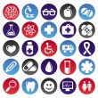 Stock Vector: Vector medical icons and signs