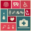 Royalty-Free Stock Vector Image: Design elements with medical icons