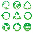Vector collection with recycle signs and symbols — Vettoriale Stock  #15552855