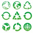 Vector collection with recycle signs and symbols — Stock Vector #15552855