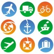 Vector transport icons — Stock Vector