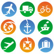 Vector transport icons — Stock Vector #15552877