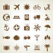Vector travel icons — Stock Vector