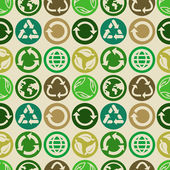 Seamless pattern with ecology signs — Stock Vector
