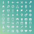 Vector set with internet and technology icons — Stock Vector