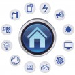 Vector smart house concept - Stock Vector
