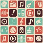 Vector music seamless pattern — Stock Vector