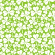 Vector seamless pattern with clover leaf — Stock Vector