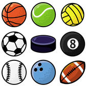 Vector set with sport balls — Stock Vector
