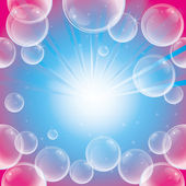 石鹸の泡と absract 背景 — ストックベクタ
