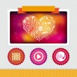 Royalty-Free Stock Imagen vectorial: Vector design template with music icons and signs