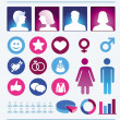 Vector infographics elements - man and woman - Stock Vector