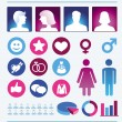Vector infographics elements - man and woman — Stock Vector