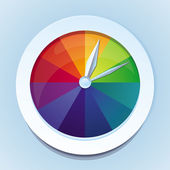 Vector rainbow watches - abstract icon — Stock Vector