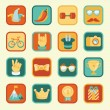 Vector set with achievement and awards badges — 图库矢量图片