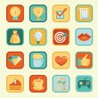 Vector set with achievement and awards badges — стоковый вектор #24064935