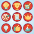 Vector set with achievement and awards badges — Imagens vectoriais em stock