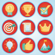 Vector set with achievement and awards badges — Stockvectorbeeld