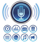 Vector podcast icons — Stock Vector