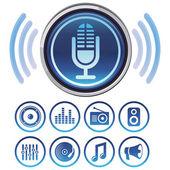 Wektor podcast ikony — Wektor stockowy