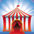 Vector circus tent - bright icon — Stock Vector