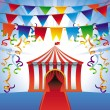 Stock Vector: Vector circus tent - bright icon