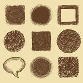 Vector set with doodle backgrounds and frames — Vetorial Stock