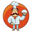 Royalty-Free Stock  : Vector cartoon character - chef cook with plate