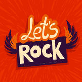 Vector let's rock poster — Stock Vector