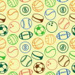 Royalty-Free Stock Vector Image: Vector seamless pattern with sport balls